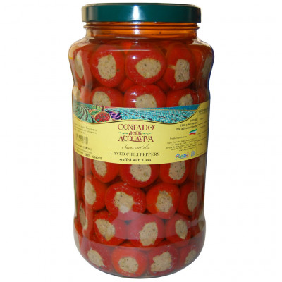 Caved Chili Peppers with Tuna [Contado - Italy] 3.1L