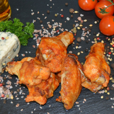 Chicken Wings, Marinated & Smoked
