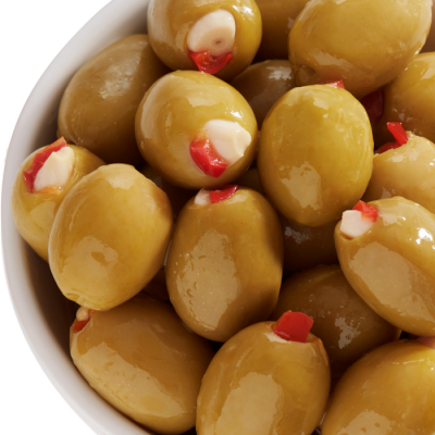 Belazu's Garlic & Pimento Stuffed Olives