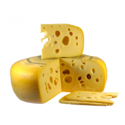 French Emmental Cheese Block