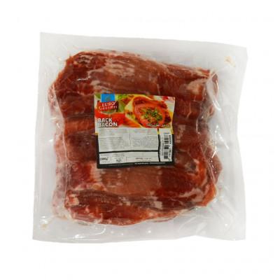 Euro Gourmet Pork Back Bacon Unsmoked Economic Front View