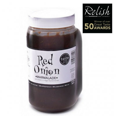 Red onion marmalade in 1L bottle