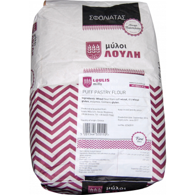 Loulis Mills Puff Pastry Flour (Type 45) 25KG , Greece