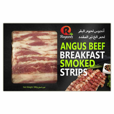 Angus Beef Breakfast Strips Smoked