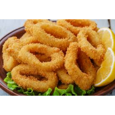Breaded Squid Rings Cooked