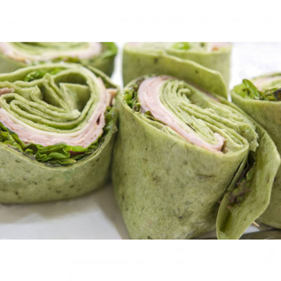 Flour Tortillas with Spinach (30cm)