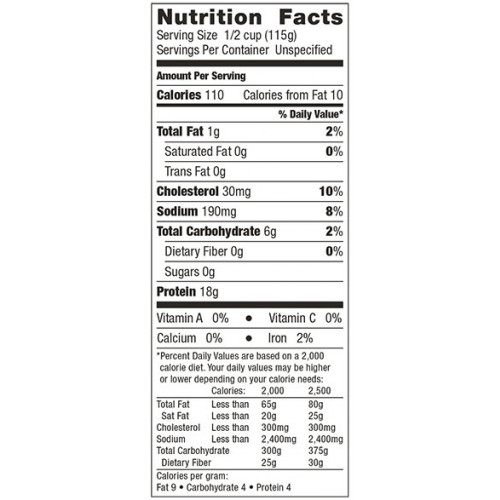 Scallops Nutritional Information