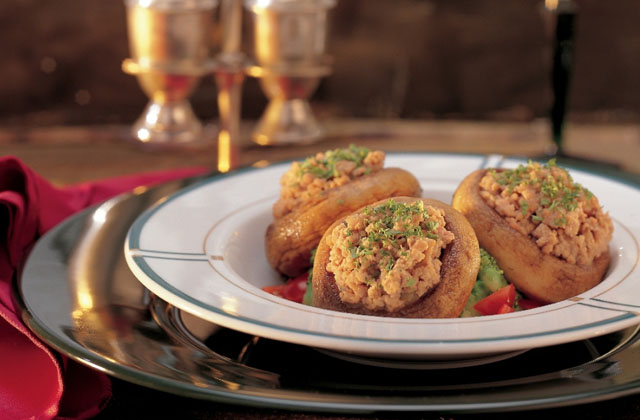 Field Mushrooms Stuffed with Minced Veal