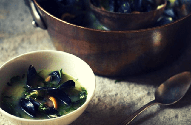 Mussel & Swiss Chard Soup Recipe